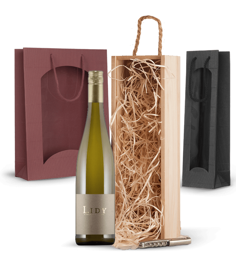 Wein-Geschenk, Geschenkidee, Geschenkverpackung